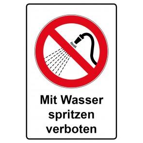Kombi Aufkleber Mit Wasser spritzen verboten