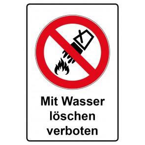 Kombi Aufkleber Mit Wasser löschen verboten