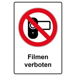 Kombi Aufkleber Filmen verboten