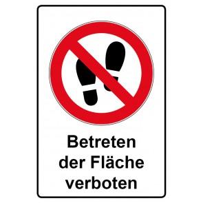 Kombi Aufkleber Betreten der Fläche verboten