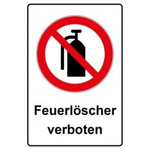 Kombi Aufkleber Feuerlöscher verboten