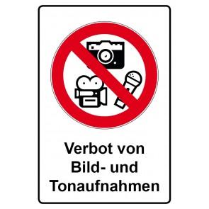 Kombi Aufkleber Verbot von Bild- und Tonaufnahmen