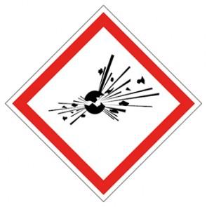 GHS Zeichen Bombe, explosive Stoffe · MAGNETSCHILD