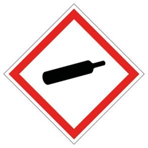 GHS Aufkleber Gasflasche, unter Druck stehende Gase