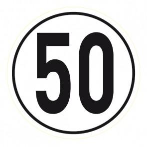 Geschwindigkeitsaufkleber 50 km/h