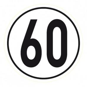 Geschwindigkeitsaufkleber 60 km/h