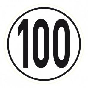 Geschwindigkeitsschild 100 km/h · Magnetschild - Magnetfolie