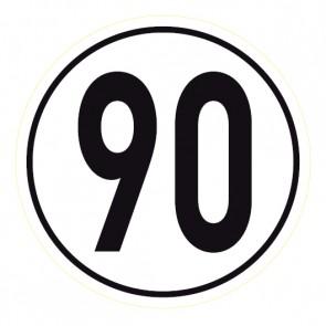 Geschwindigkeitsaufkleber 90 km/h