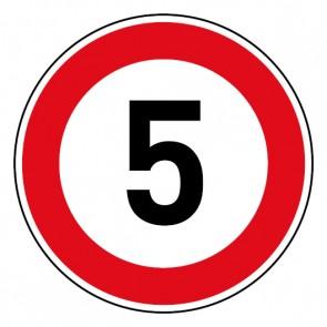 Geschwindigkeitsszeichen Tempo Limit 5 km/h Schild