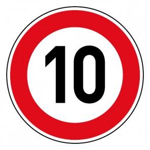 Geschwindigkeitsszeichen Tempo Limit 10 km/h Schild
