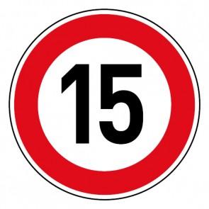 Geschwindigkeitsaufkleber Tempolimit 15 km/h
