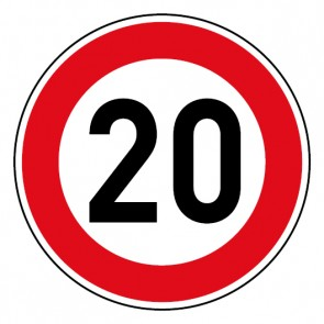 Geschwindigkeitsaufkleber Tempolimit 20 km/h