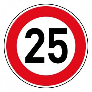 Geschwindigkeitsaufkleber Tempolimit 25 km/h