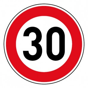 Geschwindigkeitsaufkleber Tempolimit 30 km/h