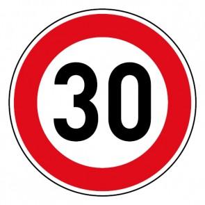 Geschwindigkeitsszeichen Tempo Limit 30 km/h Schild · Magnetschild - Magnetfolie
