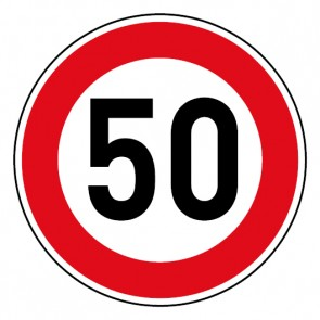 Geschwindigkeitsszeichen Tempo Limit 50 km/h Schild · Magnetschild - Magnetfolie