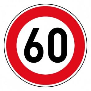 Geschwindigkeitsszeichen Tempo Limit 60 km/h Schild · Magnetschild - Magnetfolie