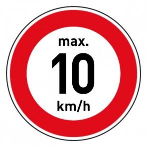 Geschwindigkeitszeichen Tempolimit max. 10 km/h · Magnetschild - Magnetfolie