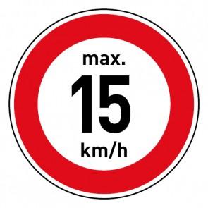 Geschwindigkeitszeichen Tempolimit max. 15 km/h · Magnetschild - Magnetfolie