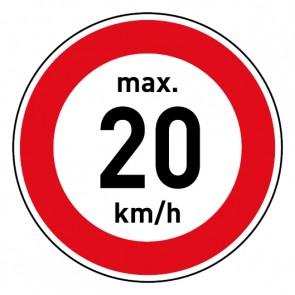 Geschwindigkeitszeichen Tempolimit max. 20 km/h · Magnetschild - Magnetfolie
