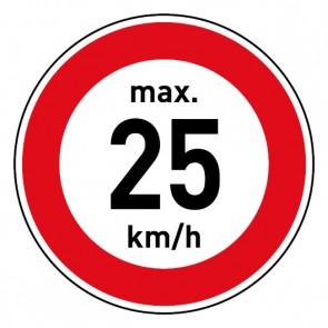 Geschwindigkeitszeichen Tempolimit max. 25 km/h · Magnetschild - Magnetfolie