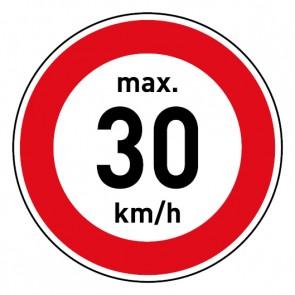 Geschwindigkeitszeichen Tempolimit max. 30 km/h · Magnetschild - Magnetfolie