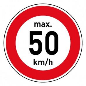 Geschwindigkeitszeichen Tempolimit max. 50 km/h · Magnetschild - Magnetfolie