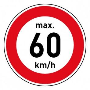 Geschwindigkeitszeichen Tempolimit max. 60 km/h · Magnetschild - Magnetfolie