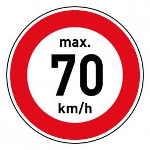 Geschwindigkeitszeichen Tempolimit max. 70 km/h · Magnetschild - Magnetfolie