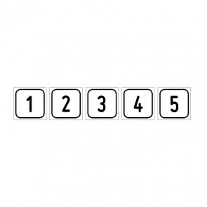 """Aufkleber Zahlen-Set """"1-5"""""""