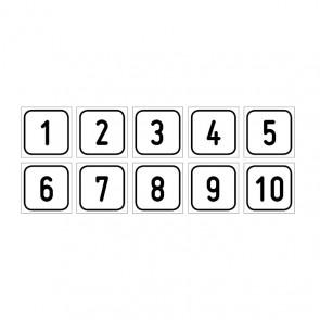 """Aufkleber Zahlen-Set """"1-10"""""""