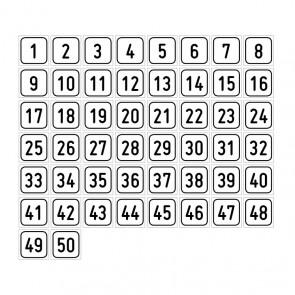 """Aufkleber Zahlen-Set """"1-50"""""""