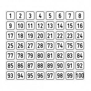 """Aufkleber Zahlen-Set """"1-100"""""""
