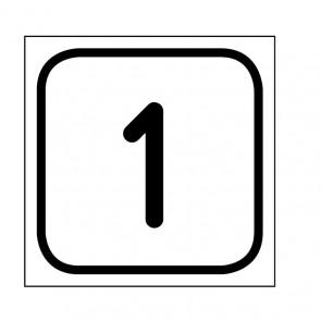 """Aufkleber Zahlen-Set """"1-1"""""""