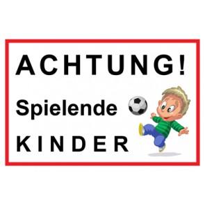 Schild Achtung Spielende Kinder | Mod. 1