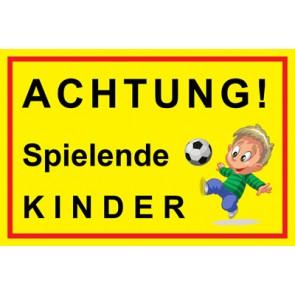 Aufkleber Achtung Spielende Kinder | Mod. 3