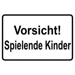 Magnetschild Vorsicht · Spielende Kinder   Mod. 29  (Magnetfolie)