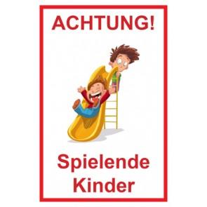 Aufkleber Achtung Spielende Kinder | Mod. 101