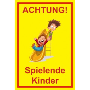 Aufkleber Achtung Spielende Kinder | Mod. 103