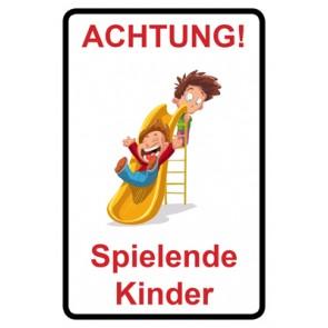 Schild Achtung Spielende Kinder | Mod. 105