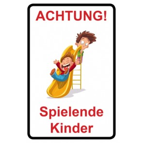 Aufkleber Achtung Spielende Kinder | Mod. 105