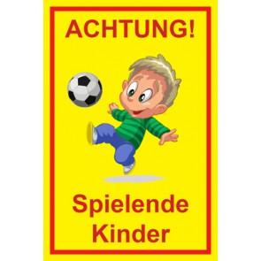 Aufkleber Achtung Spielende Kinder | Mod. 109