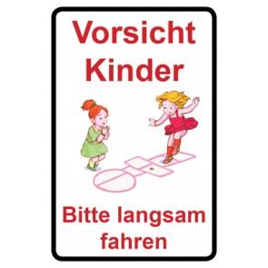 Magnetschild Achtung Spielende Kinder | Mod. 117  (Magnetfolie)