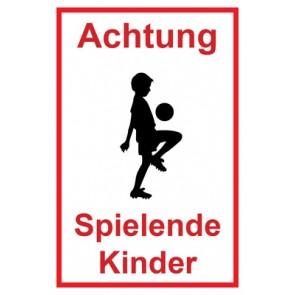 Aufkleber Achtung Spielende Kinder | Mod. 119