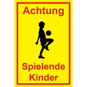 Schild Achtung Spielende Kinder | Mod. 121