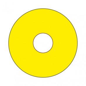 Aufkleber Emergency STOP rund 50 mm · 65 mm · 80 mm | gelb · blanko
