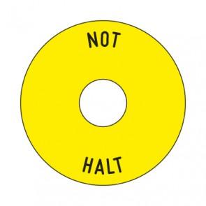 Aufkleber NOT HALT rund 50 mm · 65 mm · 80 mm | gelb · schwarz