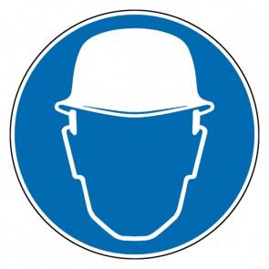 Aufkleber Gebotszeichen Kopfschutz benutzen | stark haftend
