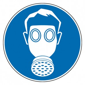 Aufkleber Atemschutz benutzen