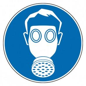 Aufkleber Gebotszeichen Atemschutz benutzen | stark haftend